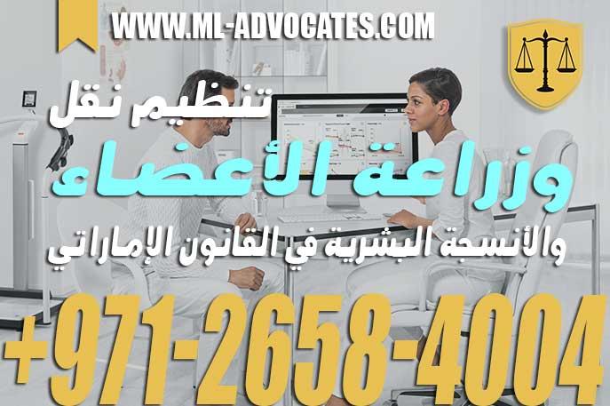 تنظيم نقل وزراعة الأعضاء والأنسجة البشرية في القانون الإماراتي